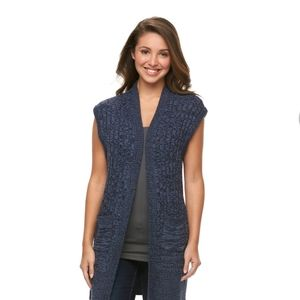 Croft & Barrow ribbed Open Front Cardigan